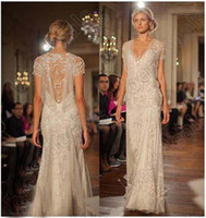 Cheap A-Line 2014 White Bridal Gown Best Reference Images V-Neck White Wedding Dress