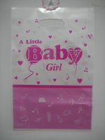 baby girl themes - a little baby girl theme printing plastic hand length handle loot lolly bag shopping gift bag