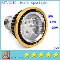 Fedex dhl 50x Dimmable E27 GU10 PAR20 9W 12W 15W Led Light S...