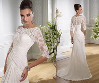 Cheap Sheath/Column 2014 Sheath Bridal Gown Best Reference Images Scoop Sheath Wedding Dress