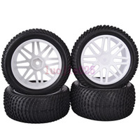 Cars other other 6611BS SET RC 1:10 Off-Road Buggy Car Front & Rear Foam Rubber Grain Tyre Tires & White Wheel Rim