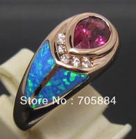 Gold Ring 14K 1.45CT SOLID 14K ROSE GOLD SPARKLY PINK TOURMALINE DIAMONDS WEDDING ENGAGEMENT&OPAL ENGAGEMENT RING