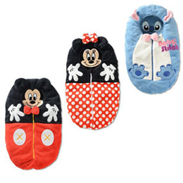 Wholesale Mickey Minnie Baby Sleeping Bags Children s Sleepsacks Polka Dot Girls Sleepwear