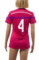 Soccer Men Short Thailand Quality Women 14-15 Season #4 SERGIO RAMOS Away Soccer Football Jerseys ,High Quality Ladies Sports Shirts Cheap Sports Uniforms
