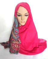 Dobby hijab - 2014 New Viscose Paisley Scarf Shawl Floral Hijab Muslim Headband