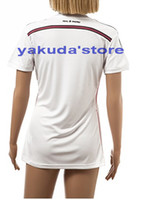 Wholesale Thailand Quality Customized Season Blank Home White Soccer Lady Jerseys Popular Soccer Jerseys Shopping Woman s Football Shirts Tops