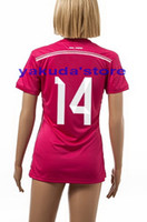 Wholesale Thailand Quality Customized Season ALONSO Away Pink Soccer Women Lady Jerseys Popular Soccer Jerseys Shopping Online Sale Store