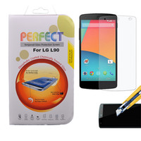 Wholesale Premium Tempered Glass Screen Protector For LG G2 G3 G2 mini L40 L70 L80 L90 Google Nexus