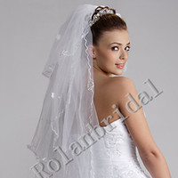 Wholesale Three Layers veil finger tip Waltz Wedding Veil bridal veils veil
