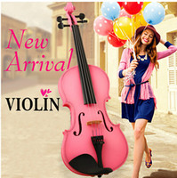 Wholesale 2014 New hot Grading pink girl handmade Children practice violin piano paint does not fade Musical Instruments Christmas gifts birthday gift