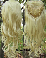 Curly wig clips - 3 Full Clip In wavy Hair Piece Heat resistance synthetic hair Half Wig Hairpiece GS TFA888 pc grams inches