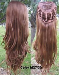"""Resistente para el cabello de calor en venta-Peluca sintética resistente calientes del pelo de la peluca de la venta 3/4 media peluca 200g 24 """"Hairpieces ondulados de la peluca con el pelo 5pcs / lot de las pelucas del peine 16colors"""