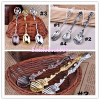 Wholesale Vintage Alloy Shells Coffee Spoon Crown Palace Carved Tea Ice Cream Scoop Dessert Spoons Cutlery Styles