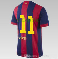 Wholesale Thai Quality14- 15 season home #11 neymar jr red bl...