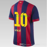 Hot Sale Thai Quality 14- 15 season home #10 MESSI red Soccer...