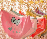 Wholesale Pink Series Women s Cotton Panties Underwear Cartoon Bowknot Pattern Lady s Secret