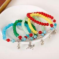 Wholesale Korean couple of natural jade crystal bracelet retro bag jewelry silver pendant bracelet bracelet female Tanabata gift paipai