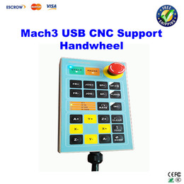 Wholesale Free ship Mach3 USB Handwheel for Engraving Machine Controller CNC Engraver Handle