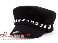 Wholesale Vivi magazine autumn and winter Unisex Navy Captain Sailor Cap Rivet Style Fashion Stylish Hat