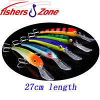 2014 Новая большая рыбалка для рыбалки Minnow для карандашей 27cm-115.2g Япония Крючки для жесткой пластмассы Swimbait Deep Sea Fishing Tackle Lure