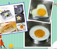 Set FDA Egg Tools 3 Pieces set Stars+Round+Heart Stainless Steel Eggs Fried Device Size 10.5*9.5*1 cm Fried Pans Eggs Tool Kitchenware uh066 pt8