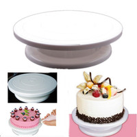 Wholesale Rotating Revolving Cake Pro quot Sugarcraft Turntable Decorating Stand Platform Cake Stand Kitchen Accessories