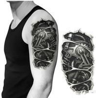 Wholesale TS Illustration Steampunk Mechanical Large Temporary Arm Tattoo from Old Fashion Week