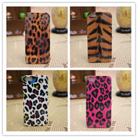 For Apple iPhone Plastic case 7 Models Zebra Stripe Leopard Print Cow Dots Pattern Hard Phone Cases Cover For iPhone 4 4S 4G +Free Shipping