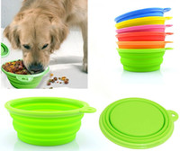 Wholesale Fashion Dog Cat Pet Portable Silicone Collapsible Dish Travel Feeding Bowl Water Dish Feeder