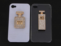 For Apple iPhone Metal Rhinestone Case Min.$15 (Mixed Order) perfume bottle Charms Cell Phone DIY Alloy Decoration With Free Shipping