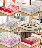 Dobby Yes 40 44 styles printed solid color fitted bed sheet elastic mattress Cover protective case bedspread single full queen king size free