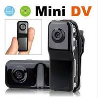 Wholesale FreeShipping MD80 Bracket Clip Black Sports Video Camera Mini DVR Camera Mini DV High Resolution Mini Camera Sports DV Drop Ship