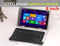 Wholesale 8 inch Bluetooth Keyboard leather case For Voyo A1 Mini And For All inch tablets Russian Keyboard Multi Language Keyboad