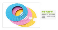 Wholesale 2014 Hot new an adjustable baby shampoo cap thickening shampooing cap baby shower cap shower cap for children