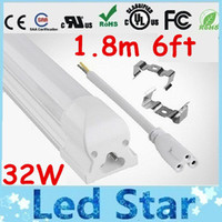 T8 32W SMD 2835 and SMD 3014 UL Certification T8 Integrated 32W 6ft 1.8m Led Tube Lights Frosted transparent Cover Warm Natural Cool White Led Fluorescent Lamp 85-265V