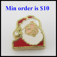 Charms Slides, Sliders Holidays, Seasonal NEW Design free shipping Christmas floating charms for living memory lockets accessories Santa claus charms for glass lockets