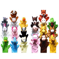 Unisex 0-12 Months Gray 20 Pcs lot Different Animals Big Size Hand Puppet Children Educational Puzzle Story-telling Toy Plush Puppet X1525