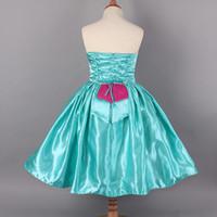 TuTu Summer Ball Gown 50pcs lot New Style Summer Frozen Princess Elsa Anna Children Wrap chest dresses sleeveless dress cartoon Baby Girl party princess dress