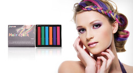 Wholesale Non toxic Temporary Salon Colors Chalk Pastel Stick Vermicelli Chalk Color Powder Brush Hair Chalk