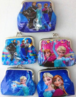 Wholesale New Listing frozen Elsa Anna iron buckle cute purse Christmas Children Gift Boys