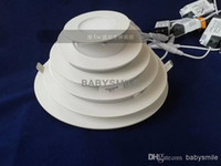 Wholesale W W W W W W LED Ceiling Lights Recessed Downlights V Led Slim Panel Lights Cool Warm White Retail Packing