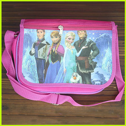 Wholesale Frozen Messenger Bag Elsa Anna Princess Messenger Bag Baby Girls Red Messenger Bag Kids Holiday Gift Children Travel Clamshell Bag GZ GD19
