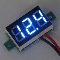 Wholesale 20 Blue LED V Car Battery Condition Monitor Panel Meter DC V V Digital Voltmeter Two Wires Volt Tester