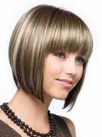 Cheap Mix Color Hair Wigs Best Straight Synthetic hair Synthetic Wigs