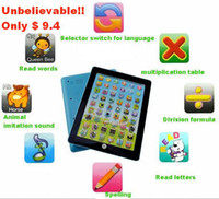 Wholesale Children Imitation Ipad laptop computer learning machine Kid Funny educational toy Color box package