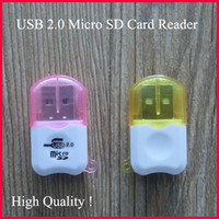 Wholesale USB Mini Card Reader Micro SD Card Reader TF T Flash Memory Card Reader Adapter GB GB GB Retail Package High Speed Free DHL