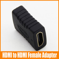 Wholesale HDMI to HDMI Female Adapter Black Coupler F F Extender Adapter Connector p SG