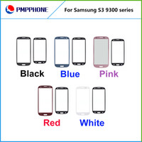 Wholesale New For SAMSUNG Galaxy S3 SIII I9300 No Touch Digitizer front outer screen glass lens white black red blue pink