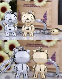 Fashion Loving Bear Couple Keychain Creative Romantic Key Chain Ring Keyring Keyfob Key Fob Holder 83001