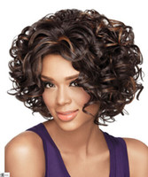 Cheap Mix Color Synthetic Hair Wigs Best Deep Wave Synthetic hair Hair Wigs